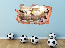 FULL COLOUR Football Wall Art, Modern Transfer, PVC Decal, 3D Window, Sticker